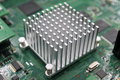 Heat sink for cooling of computer Royalty Free Stock Photo