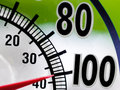 Heat Wave 100 Degree Window Thermometer Royalty Free Stock Photo