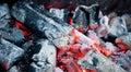 heated coals Royalty Free Stock Photo
