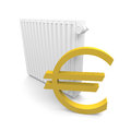 Heater cost with an euro symbol Royalty Free Stock Photography