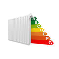 Heater cost and euro symbol in red Royalty Free Stock Photos