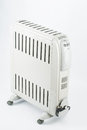 Heater on white electric oil gray Royalty Free Stock Photography