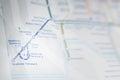 Heathrow subway map Royalty Free Stock Photo