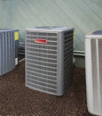 Heating and ac unit high efficiency modern heater energy save solution Royalty Free Stock Photos