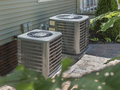 Heating and air conditioning residential HVAC units Royalty Free Stock Photo