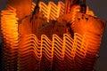 Heating element macro of working Stock Photography