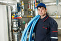 Heating engineer repairman Royalty Free Stock Image