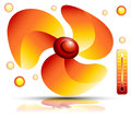 Heating Fan Royalty Free Stock Photography