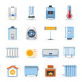 Heating Flat Color Icon Set Royalty Free Stock Photo