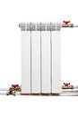 Heating radiator isolated on a white background Stock Images