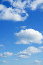 Heaven beautiful cloudscape over horizon blue sky and white clouds Royalty Free Stock Images