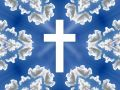 Heaven - Blue Sky, Clouds, Cross Royalty Free Stock Photo