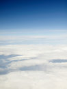 Heaven and clouds view of Kefalonia from airplane Royalty Free Stock Photo