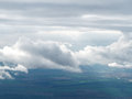 Heaven fields and meadows from the height of avian flight overcast cloud cover feet above the ground Stock Photography
