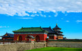 Heaven temple in beijing china on the blue sky background Stock Image