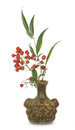 Heavenly bamboo in the vase Royalty Free Stock Photo