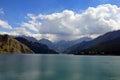 Heavenly lake in urumqi china Stock Photos