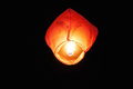 Heavenly lantern photo of a burning big at night Royalty Free Stock Images