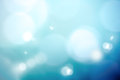 Heavenly turquoise defocused background. Abstract bokeh