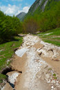 Heavily Damaged Mountain Road Stock Photos