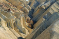 Heavily eroded ridges in golden canyon death valley national park california usa Stock Images