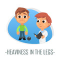 Heaviness in the legs medical concept. Vector illustration.