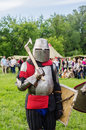 Heavy armored medieval warrior