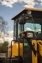 Heavy Bulldozer in the Parking lot Royalty Free Stock Photo
