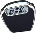 Heavy burden scale words difficult task duty on a to measure how or challenging your mission objective or job is Stock Images
