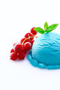 Heavy colored blue cyan icecream ball Royalty Free Stock Photo