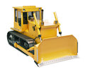 Heavy crawler bulldozer isolated on a white background Stock Image