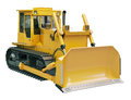 Heavy crawler bulldozer isolated on a white background Stock Images