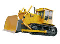 Heavy crawler bulldozer isolated on a white background Stock Photography