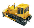 Heavy crawler bulldozer isolated on a white background Royalty Free Stock Photo