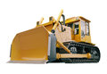 Heavy crawler bulldozer isolated on a white background Royalty Free Stock Photos