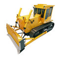Heavy crawler bulldozer isolated on a white background Royalty Free Stock Photos