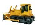 Heavy crawler bulldozer isolated on a white background Royalty Free Stock Images