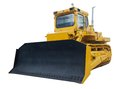 Heavy crawler bulldozer isolated on a white background Stock Photo