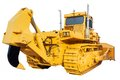 Heavy crawler bulldozer isolated on a white background Royalty Free Stock Photography
