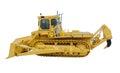 Heavy crawler bulldozer isolated on a white background Royalty Free Stock Image