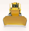 Heavy crawler bulldozer on a light background Stock Photography