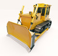 Heavy crawler bulldozer on a light background Stock Images