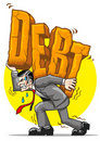 Heavy debt Stock Image