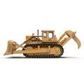 Heavy duty bulldozer isolated on white 3D Illustration