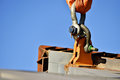 Heavy duty industrial chain lifting concrete structure Royalty Free Stock Photo