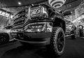 Heavy-Duty pickup truck GMC Sierra 1500 Crew Cab SLT, 2017. Royalty Free Stock Photo