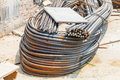 Heavy duty steel wire construction Stock Image