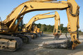 Heavy equipment lined up Royalty Free Stock Photo