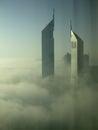 stock image of  Heavy fog in Dubai