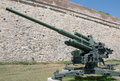 Heavy german anti aircraft gun from the world war ii it was produced in is an item collection of military Royalty Free Stock Photography